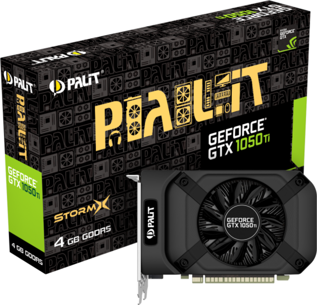 NVIDIA GeForce GTX 1050 Ti StormX 4GB Palit GPU
