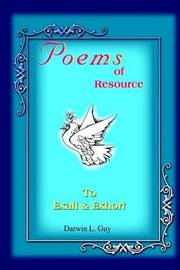 Poems of Resource by Darwin L. Guy image