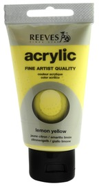 75ml Reeves Fine Acrylic - Lemon Yellow