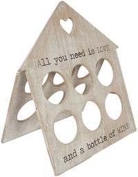 All You Need Is Love - Rustic Wine Rack