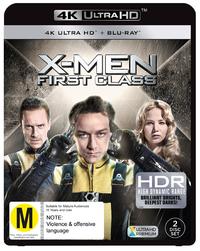 X-men: First Class on Blu-ray, UHD Blu-ray image