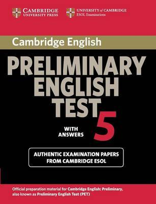 Cambridge Preliminary English Test 5 Student's Book with Answers: Paper 5 by Cambridge ESOL image