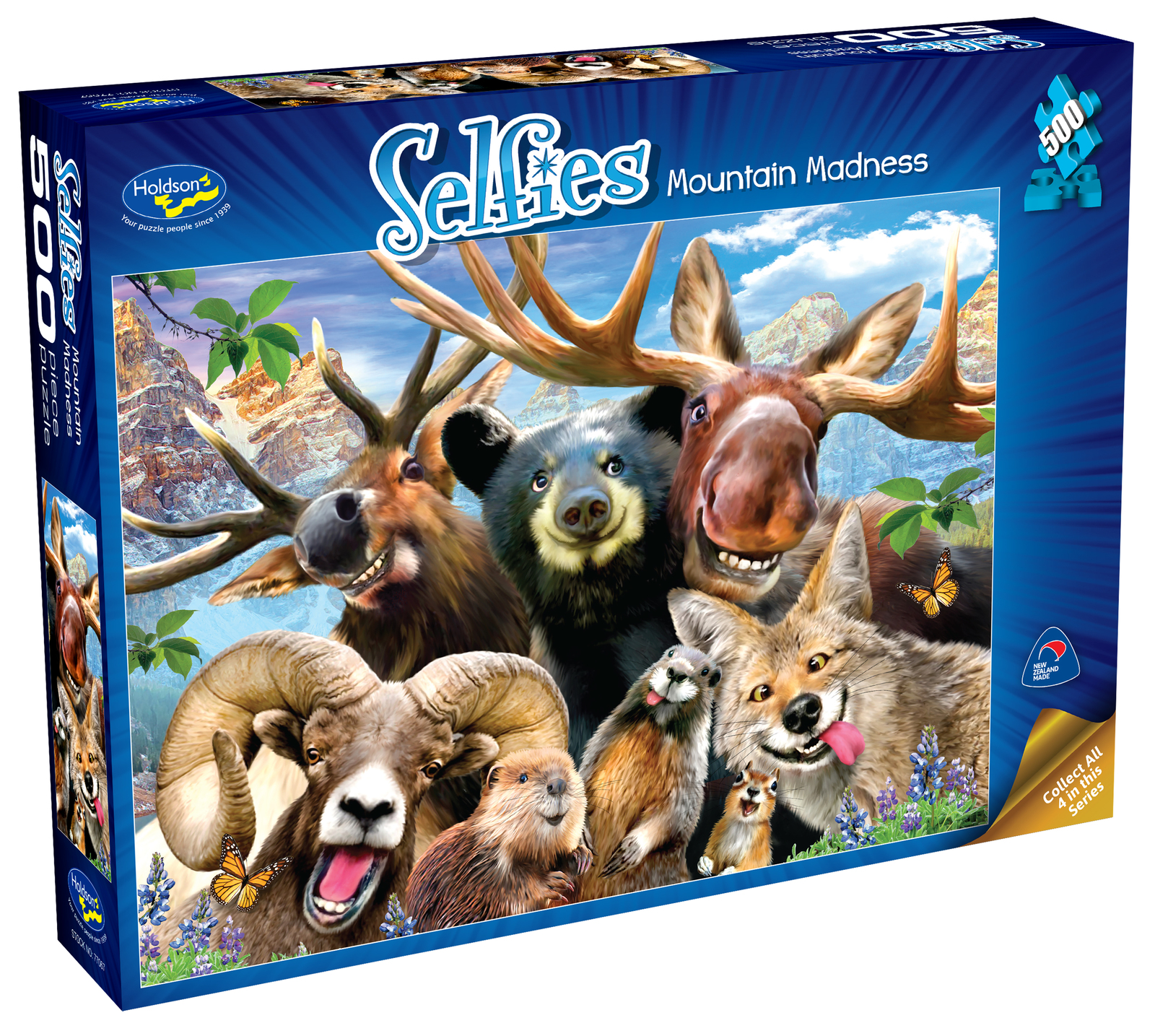 Holdson: 500 Piece Puzzle - Selfies S2 (Mountain Madness) image