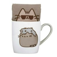 Pusheen the Cat Socks in a Mug - Stormy image