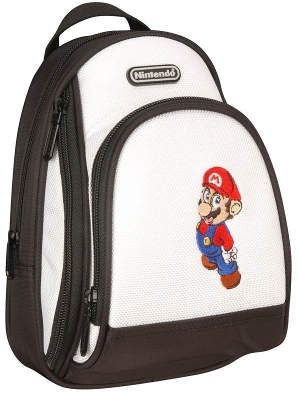 Mario Back Pack Case - White for Nintendo DS