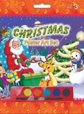 Poster Art Set Santa in Sleigh