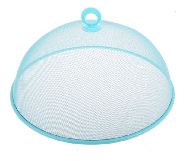 Round Mesh Food Cover (Light Blue)