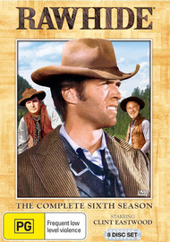 Rawhide - The Complete 6th Season (8 Disc Set) on DVD image