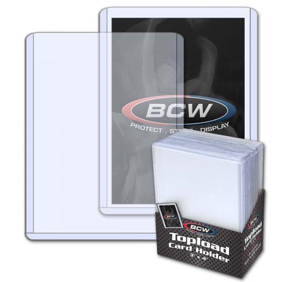 BCW 3x4 Topload Card Holder - Standard (25 pack)