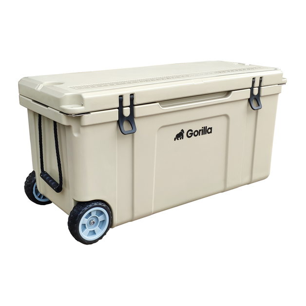 Gorilla: Heavy Duty Ice Box Chilly Bin with Wheels 120L