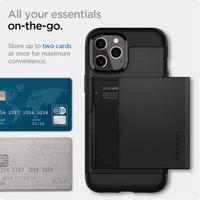 """Spigen Slim Armour CS iPhone 12 Pro Max Case (6.7"""") - Black"""