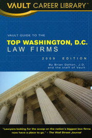 Vault Guide to the Top Washington, DC Law Firms by Brian Dalton image