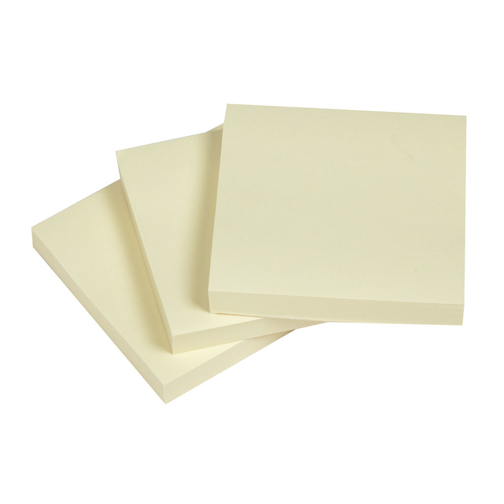 NoteFix: Self-Stick Notes - Yellow 76x76mm image