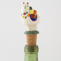 Natural Life: Bottle Stopper - Llama