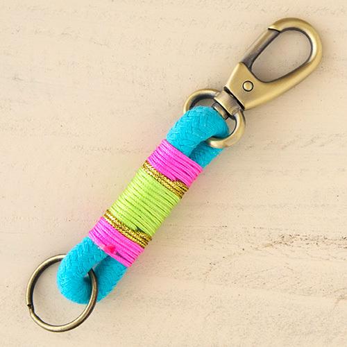 Natural Life: Rope Key Fob - Aqua, Pink, Lime
