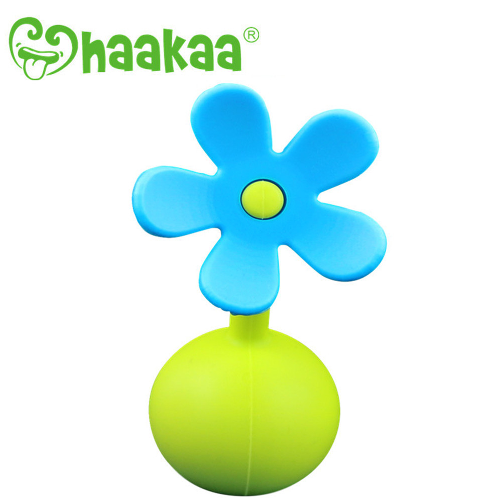 Haakaa: Silicone Breast Pump Flower Stopper Petal - Blue image