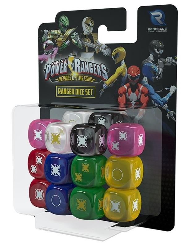 Power Rangers - Heroes of the Grid - Ranger Dice set