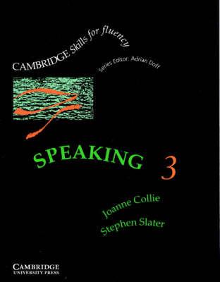 Speaking 3 Student's Book: Upper-intermediate: Level 3: Upper-intermediate by Joanne Collie image