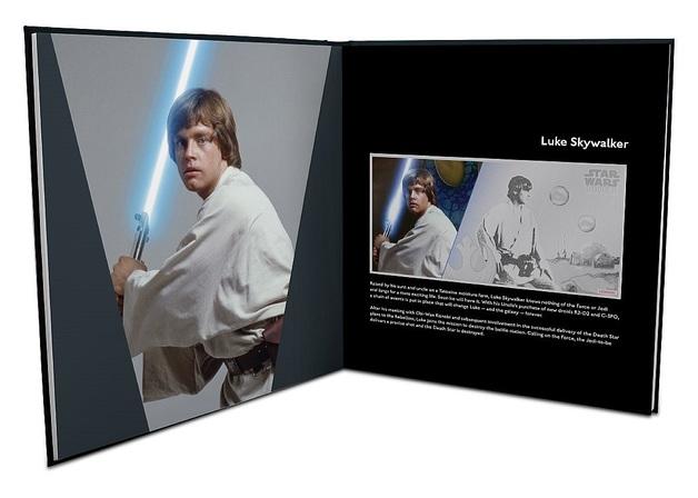 NZ Mint: Star Wars (Ep.1) - Silver Coin Note & Album - Luke Skywalker 2018 (5g Silver)