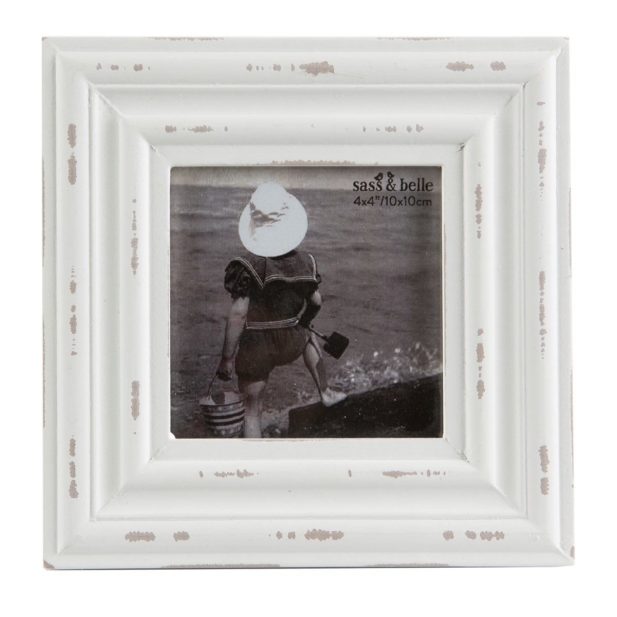 Rustic Romance Square Photo Frame (White) image