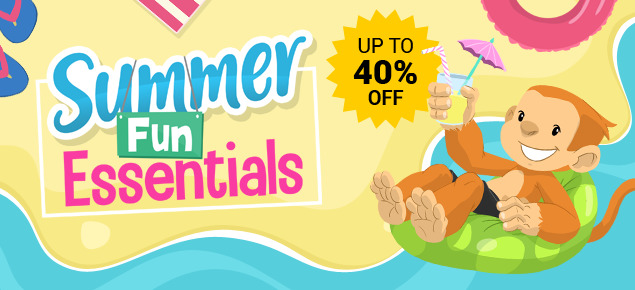 Summer Fun Essentials - up to 40% off!