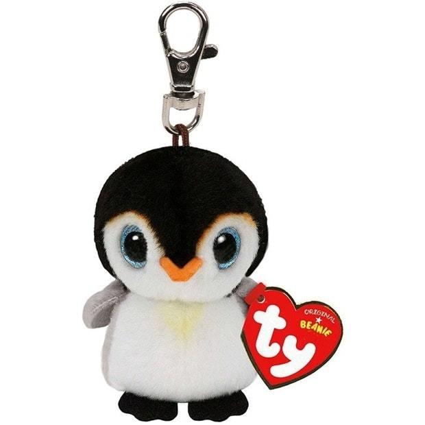 Ty Beanie Babies: Pongo Penguin - Clip On Plush