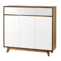 Cleo Multifunctional Shoe Cabinet - White
