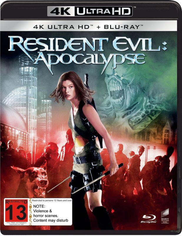 Resident Evil: Apocalypse (4K UHD + Blu-Ray) on UHD Blu-ray