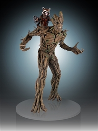 Guardians of the Galaxy Rocket Raccoon & Groot Statue