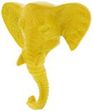 Bold Brights: Elephant Head Wall Hook - Yellow