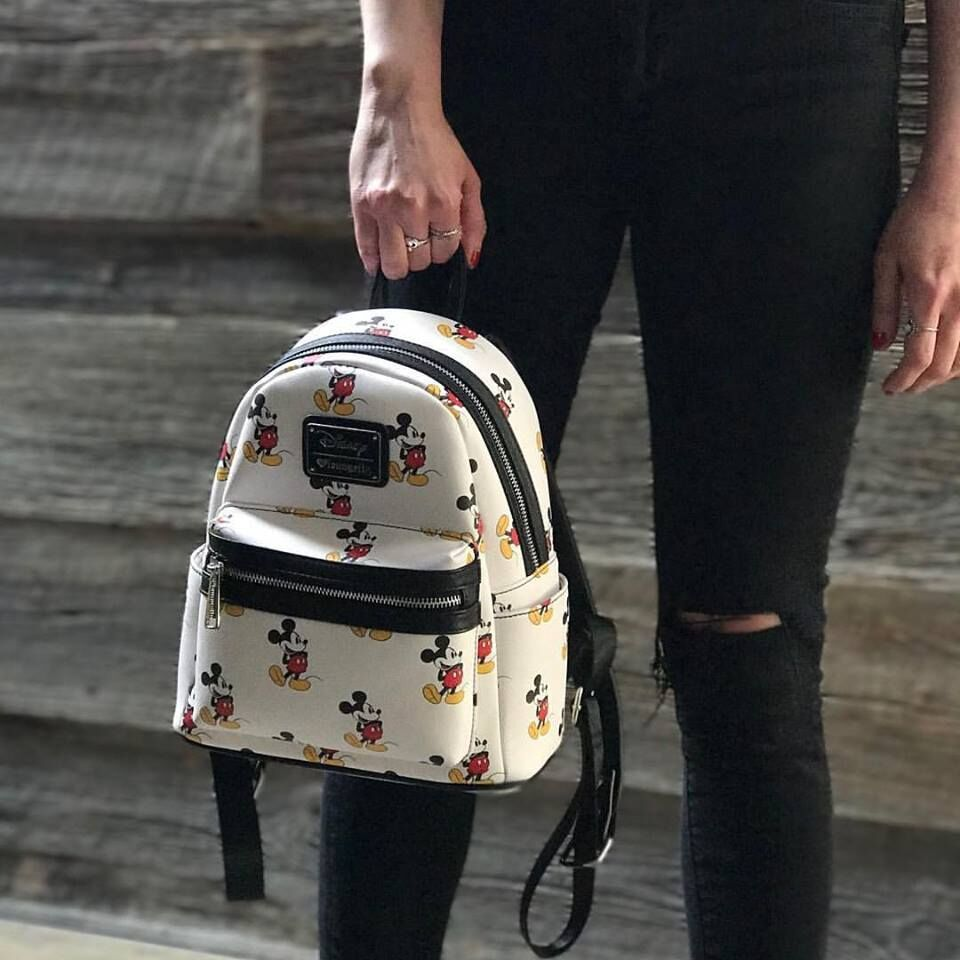 543f010d7cf ... Loungefly  Disney Mickey Mouse - Print Mini Backpack image ...