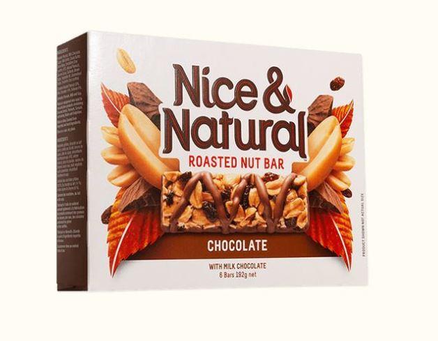 Nice & Natural Roasted Nut Bar - Chocolate (192g) 8pk