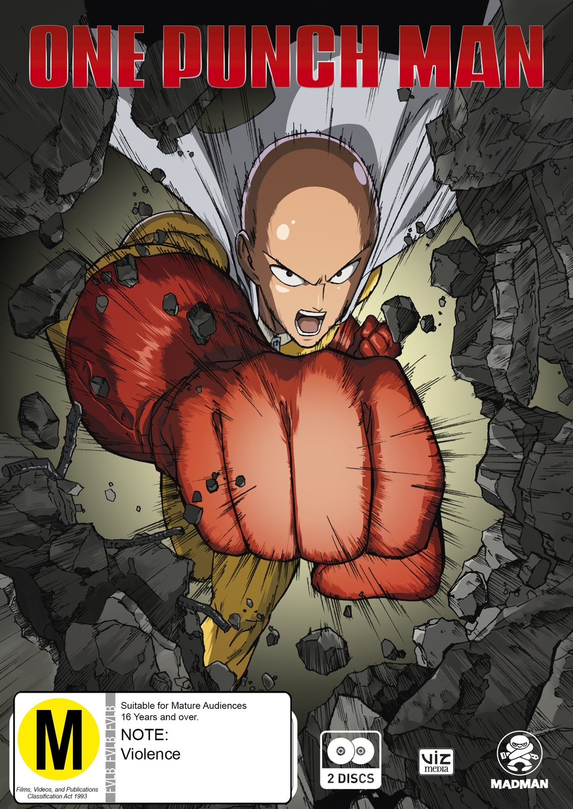 One Punch Man - The Complete Season 1 (2 Disc Set)