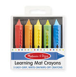 Melissa & Doug: Learning Mat Crayons