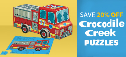 20% off Crocodile Creek Puzzles