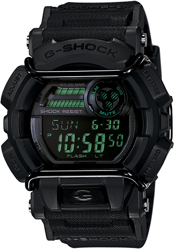 Casio G-Shock Digital Mens Black Military Series Watch GD-400MB-1DR