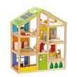 Hape All Season Wooden Dolls House (Furnished)