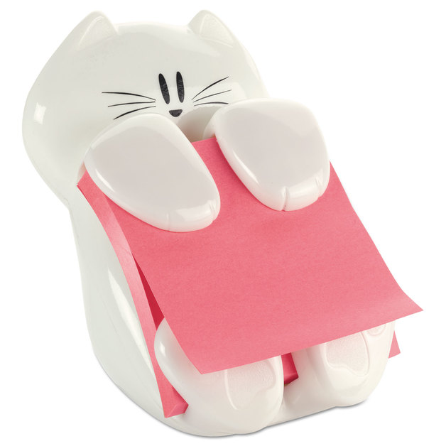 Post-it Cat Pop-Up Dispenser with Pop-Up Notes