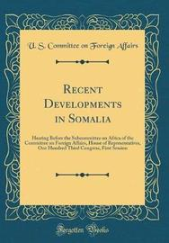 Recent Developments in Somalia by U S Committee on Foreign Affairs image