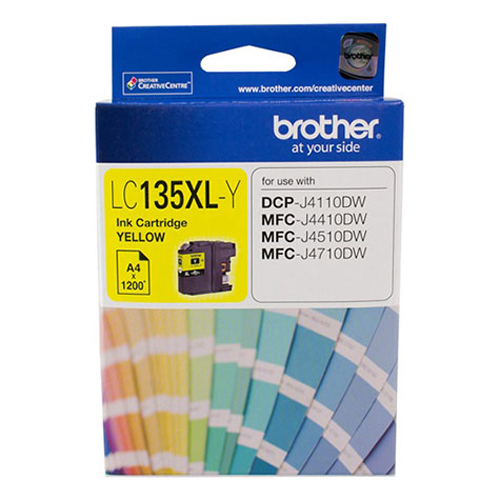Brother LC-135XLY High Yield Ink Cartridge (Yellow)
