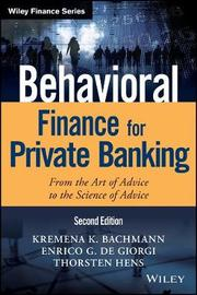 Behavioral Finance for Private Banking by Thorsten Hens