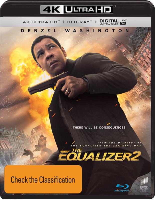 The Equalizer 2 on Blu-ray, UHD Blu-ray