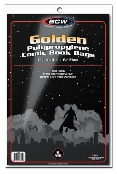 """BCW: Comic Book Bags - Golden (7.6"""" x 10.5"""")"""