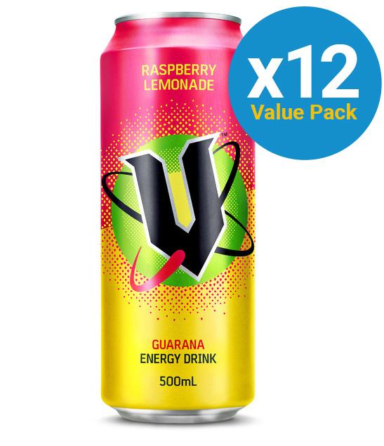 V Raspberry Lemonade 500ml (12 Pack) image
