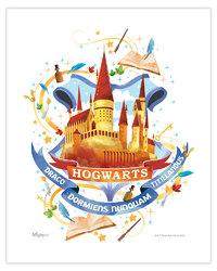 Harry Potter (Hogwarts Watercolor) MightyPrint Wall Art