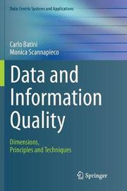 Data and Information Quality by Carlo Batini