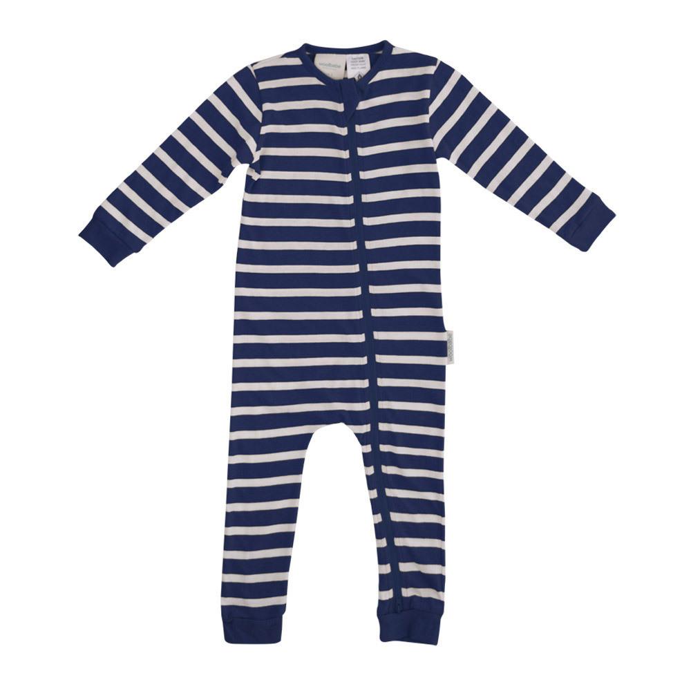 Woolbabe: Merino Organic Cotton PJ Suit - Midnight (3-6 Months) image
