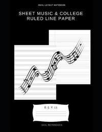 Sheet Music & college ruled line paper by Gail Notebooks image