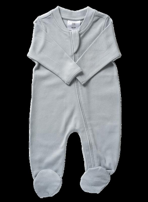 Babu: Organic Cotton All in One with Feet - Coastal Blue (6-12m)