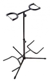 Stagg Universal Double Guitar Stand (Black)